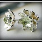 Earrings - Green Amethyst ..