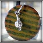 Pendant - Green Black Strip..