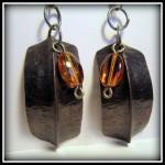 Earrings - Dark Copper Fold..